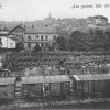 Nádraží v Bílovci - válečná pohlednice ze soukromé sbírky 1914 - 1915