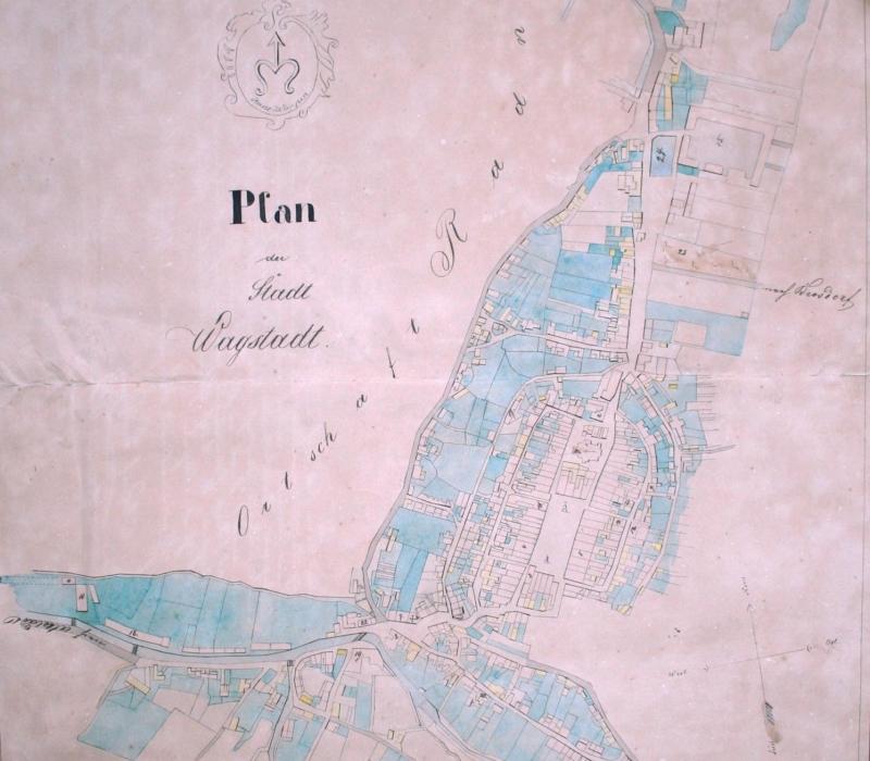 Plán města Bílovce z r. 1863.